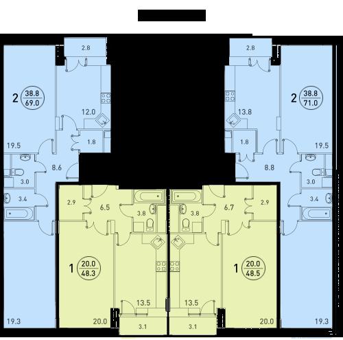Планировки квартир 4 секции