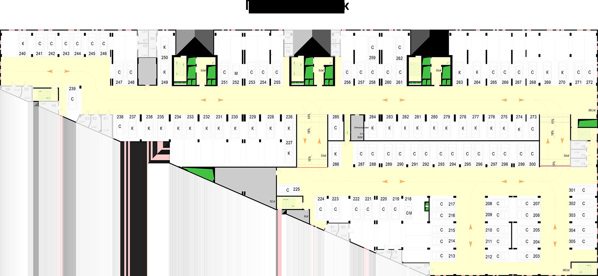 Паркинг, 2 этаж