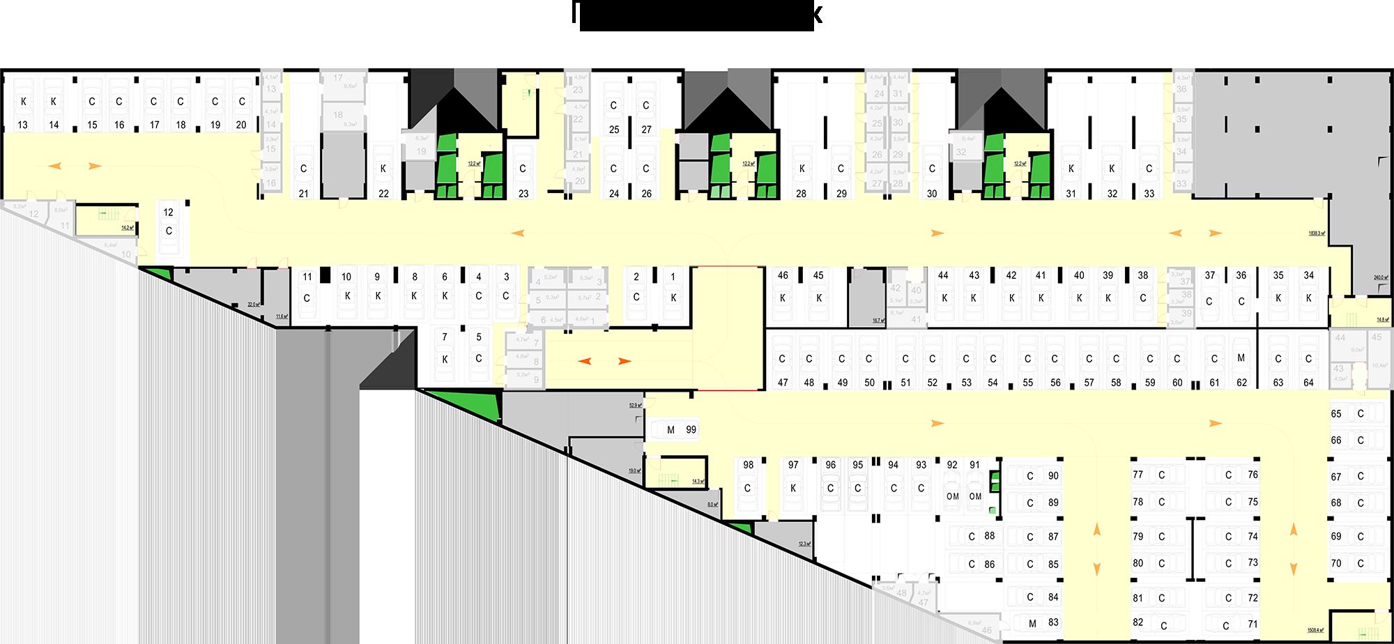 Паркинг, -1 этаж
